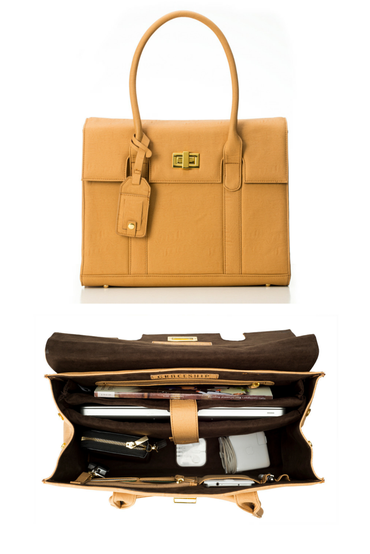 131239f13623 Spotted: The perfect laptop bags that look like purses! This women's tote  is a must-have for women that need to be organized on-the-go.