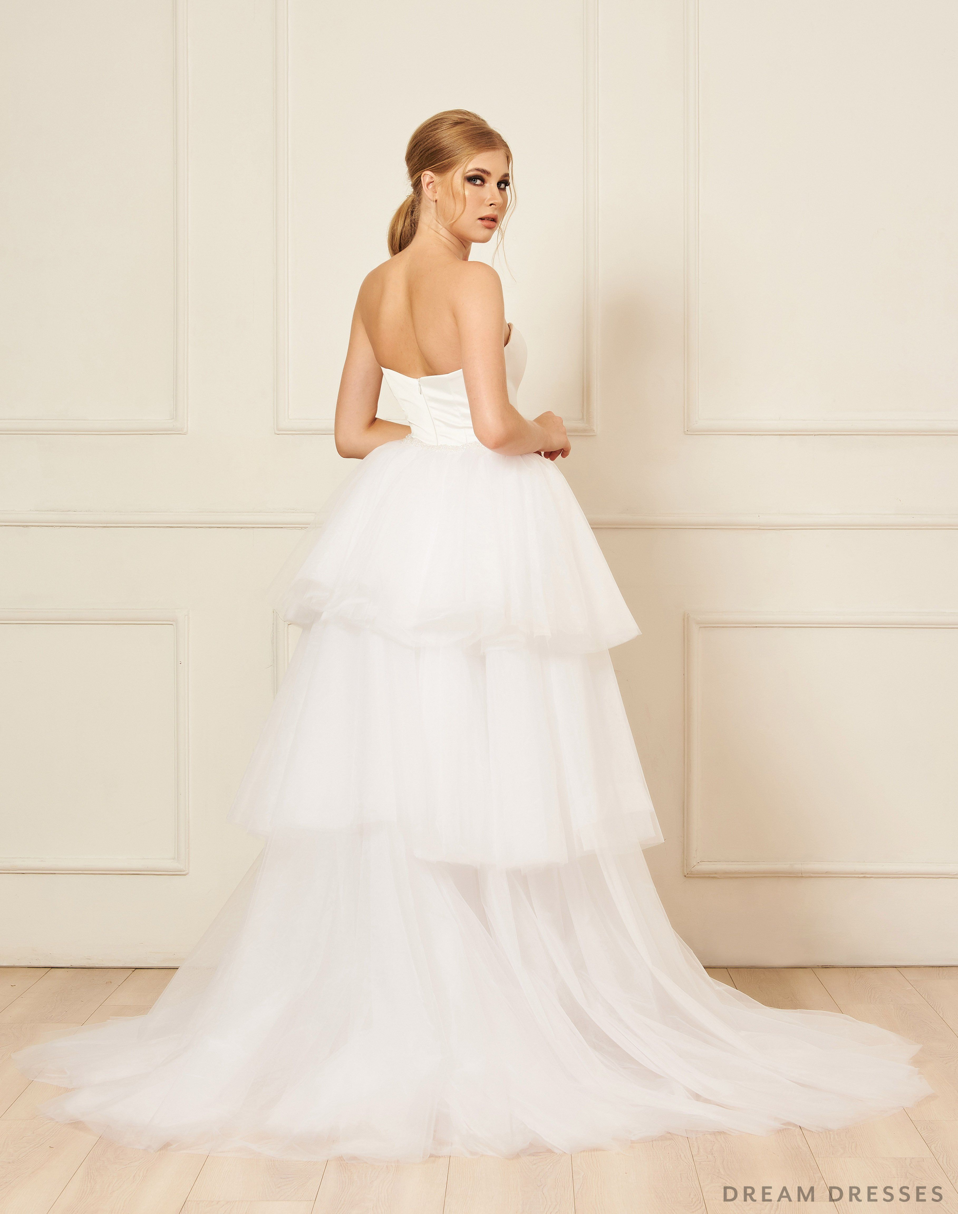 Removable Tiered Overskirt (Iva) Wedding dresses