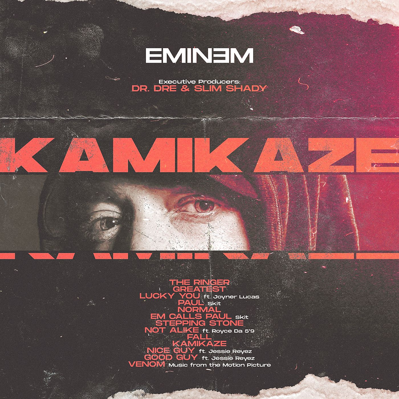 Eminem | Kamikaze | Album Art on Behance | 150 in 2019