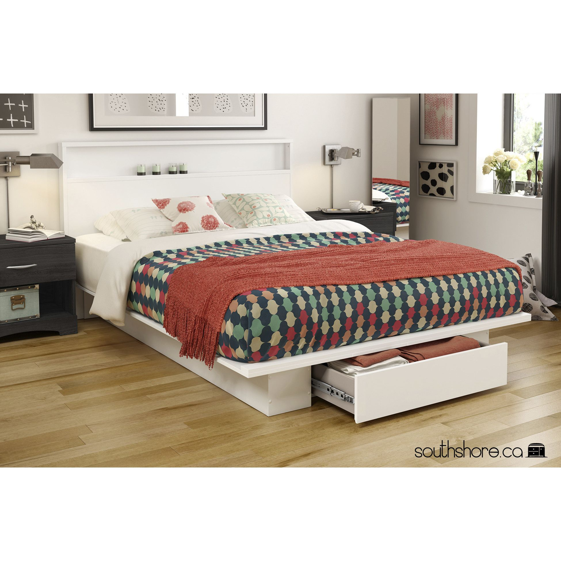 hayneedle and www com bed full platform proven size inspirations with fortune headboard bookcase prepac almosthomedogdaycare manhattan storage queen