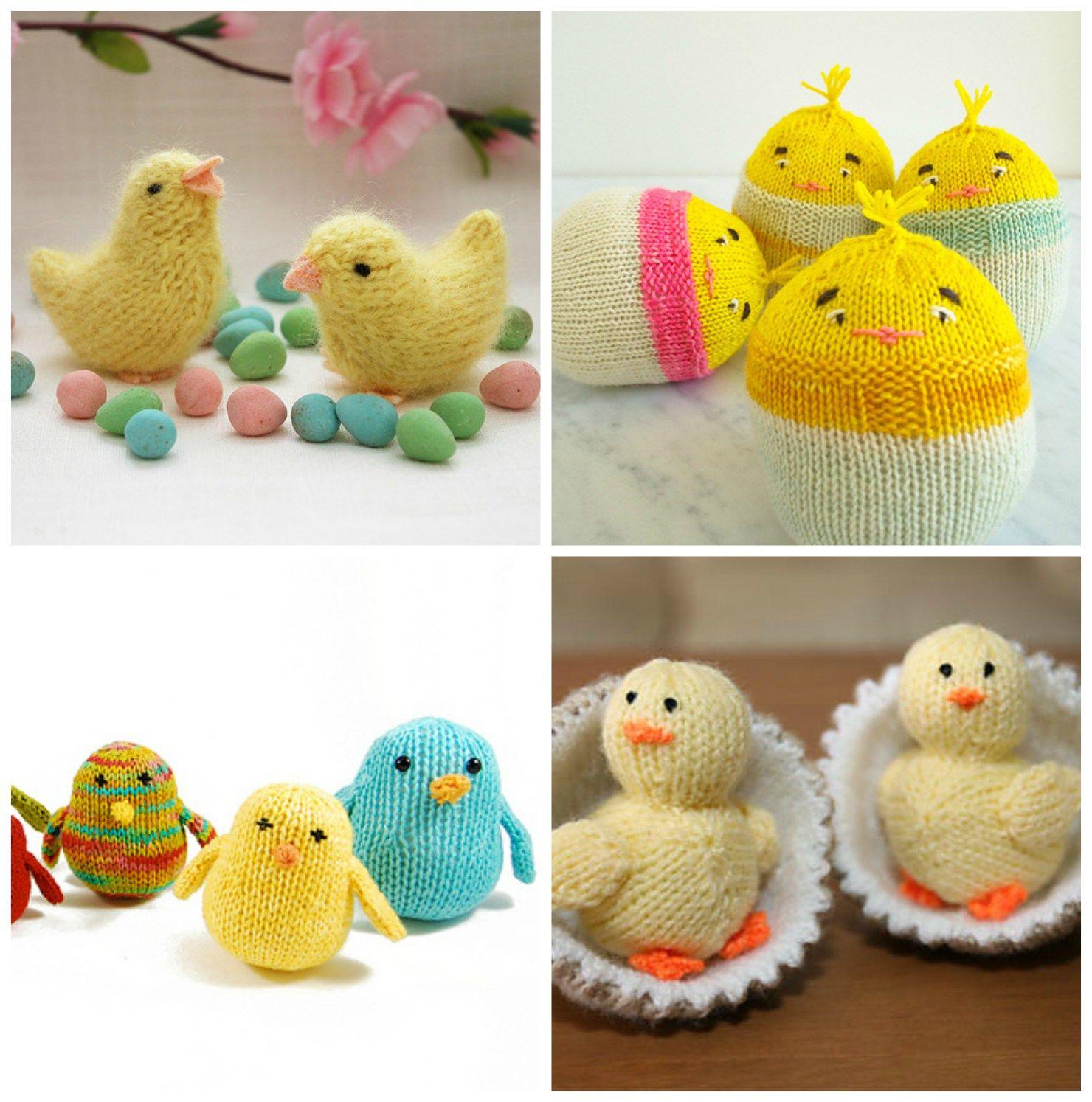Easter Knitting Ideas: Easter Chick Patterns   knittedbliss.com