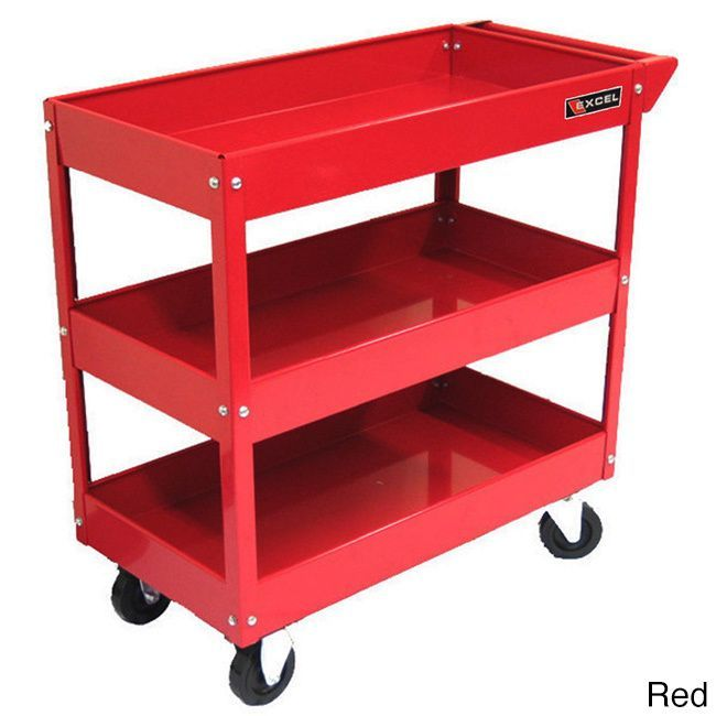 Overstock Com Tips Ideas: Excel 29-inch 3-tray Rolling Metal Tool Cart