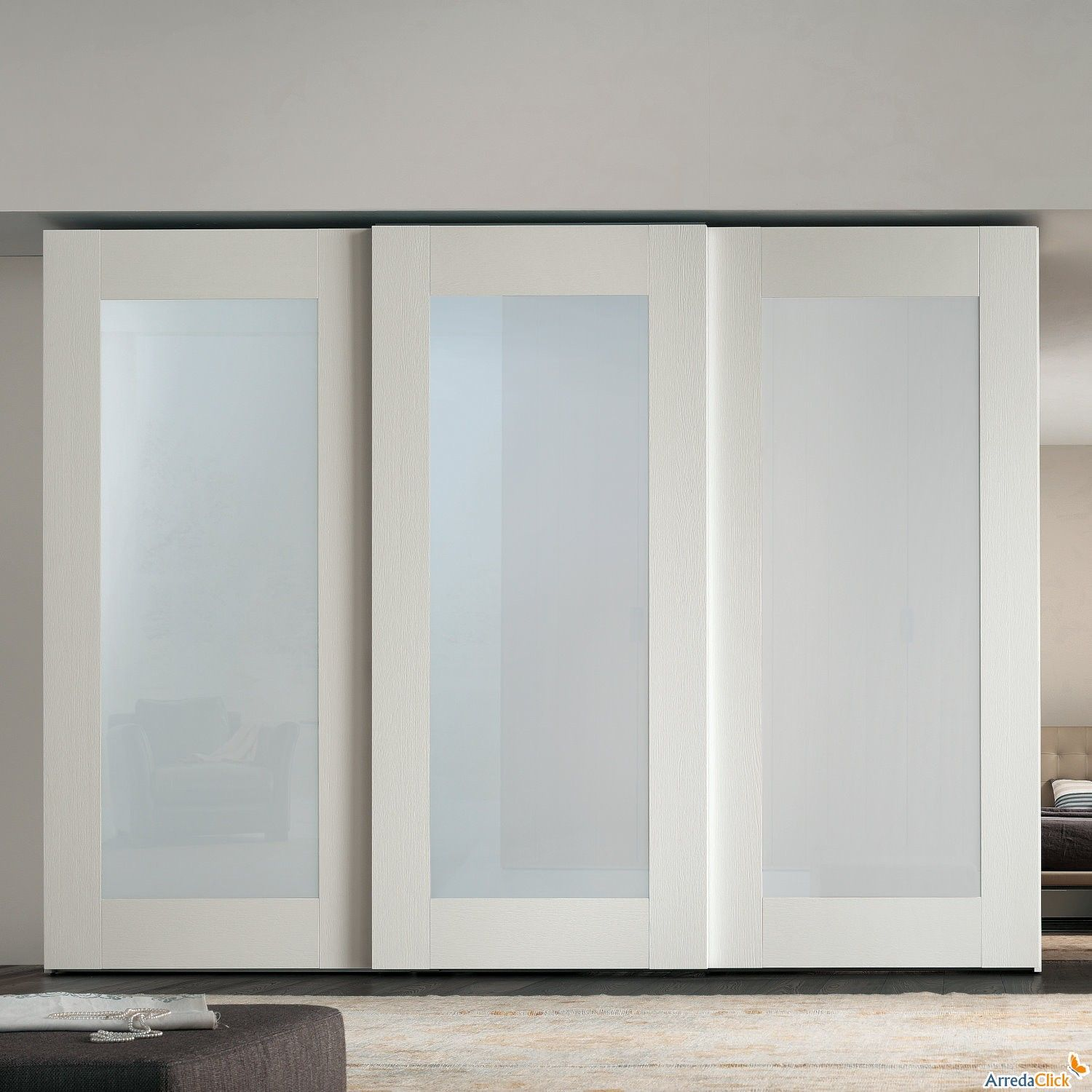 White sliding closet doors google search home reno for Sliding mirror doors