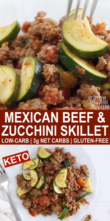 Photo of Mexican Zucchini Beef Skillet