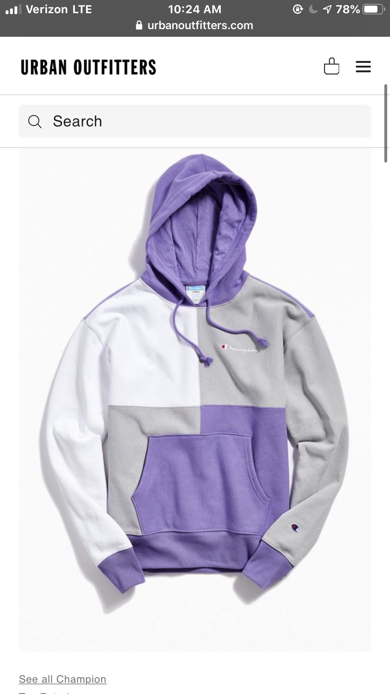 Champion Uo Exclusive Colorblock Hoodie Sweatshirt Vetements Vintage Pour Hommes Vetement Fashion Marque Vetement [ 2208 x 1242 Pixel ]