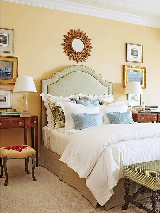 Decorating Ideas for Yellow Bedrooms Yellow master