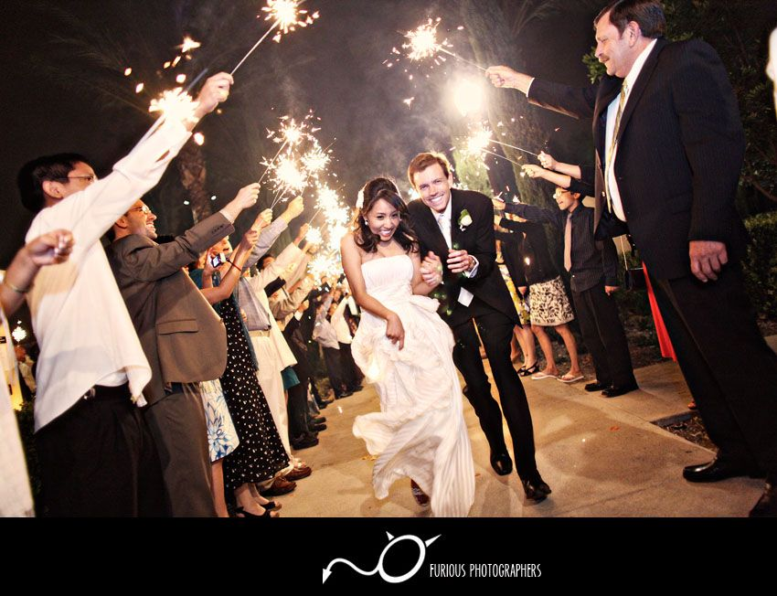 Sparklers, Wedding Send-off.. Background Music Being The