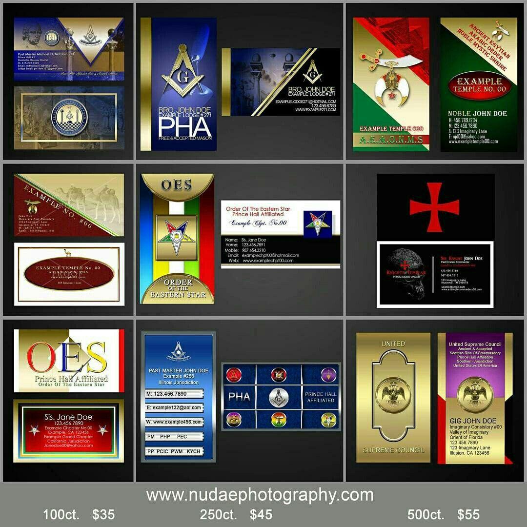 Masonic Business Cards Template Cartes De Visite Franc Maconnerie Modeles