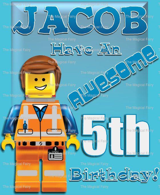 Personalised Lego Movie Emmet Master By Themagicalfairyuk 1 49 Https Www Etsy Com Uk Listing 191445587 Lego Birthday Cards Kids Birthday Cards Lego Card