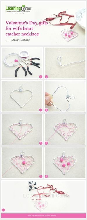 Heart Suncatcher Craft- How to Make a Simple Valentine Heart Pendant Necklace