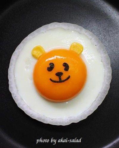 「可愛い目玉焼き☆黄色いクマ次郎」のレシピ by akai-saladさん   料理レシピブログサイト タベラッテ