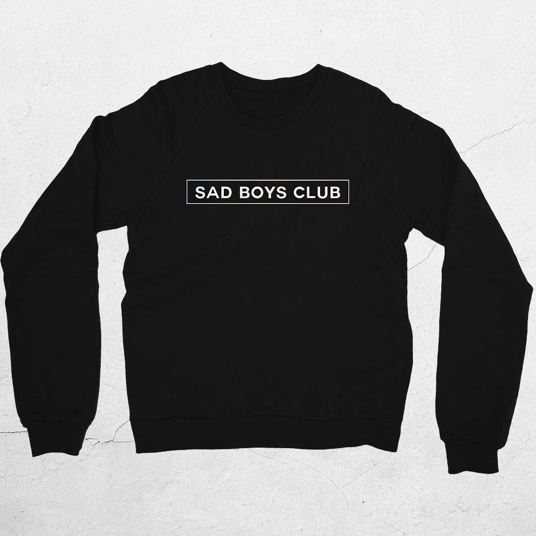 Sad Boys Club Sweater by Jigglypunk | unisex black sad boys club aesthetic  fashion sweatshirt for