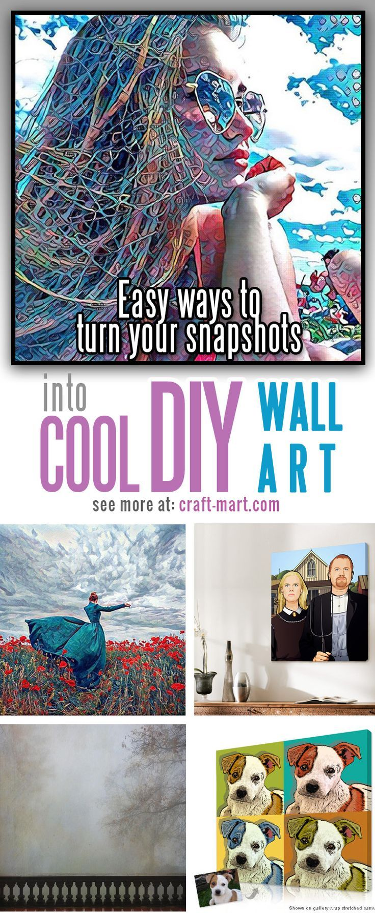 Super easy ways to turn your snapshots into an amazing diy wall art