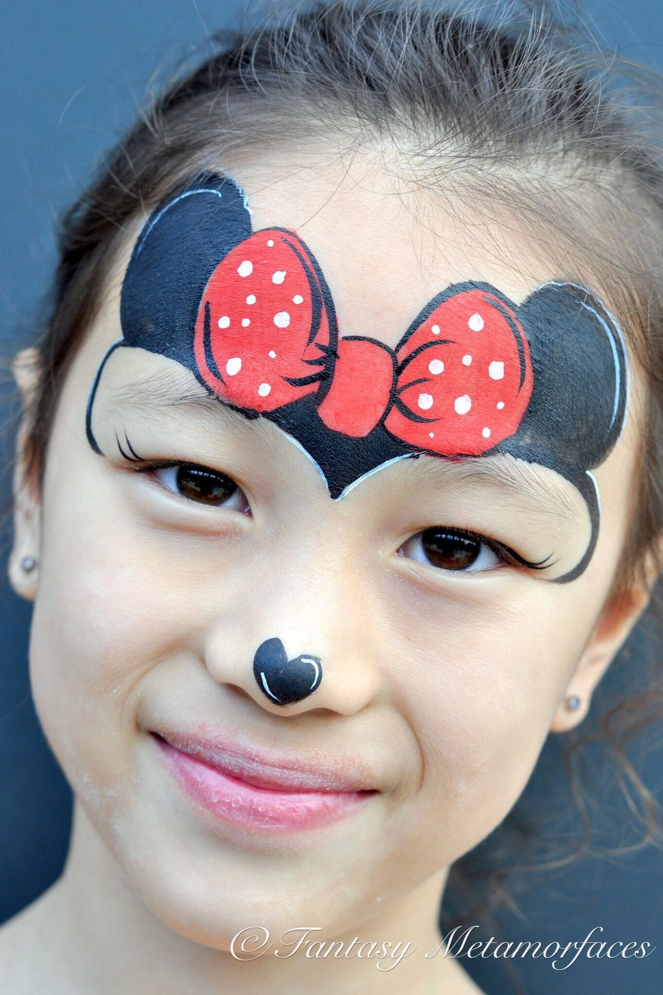 Minnie Mouse Face Paint Disney Schminke Bemalte Gesichter