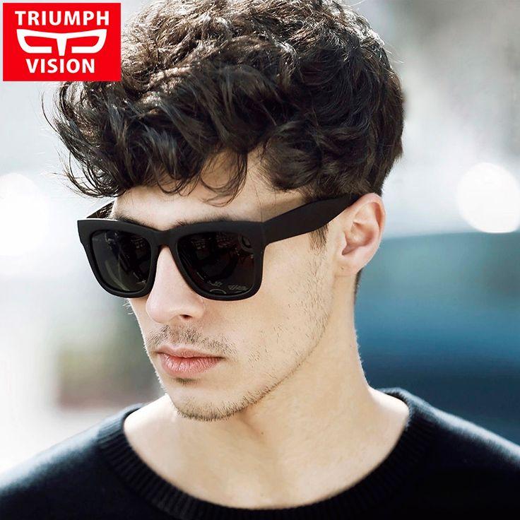 TRIUMPH VISION Male Polarized Sunglasses Men Brand Black Square Shades  UV400 Polaroid Sun Glasses For Men Cool Oculos Lunette 811b995a3c