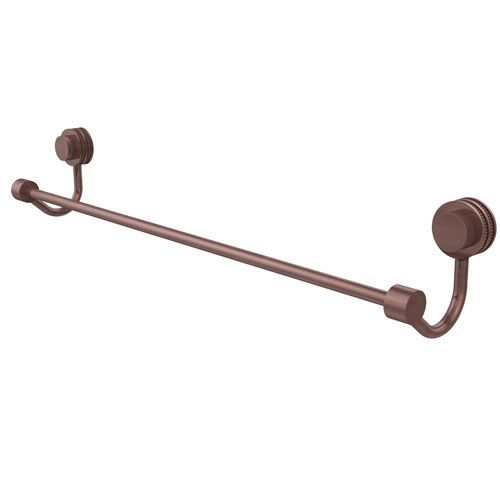 Venus Collection 30 Inch Towel Bar with Dotted Accent, Antique Copper - (In No Image Available)