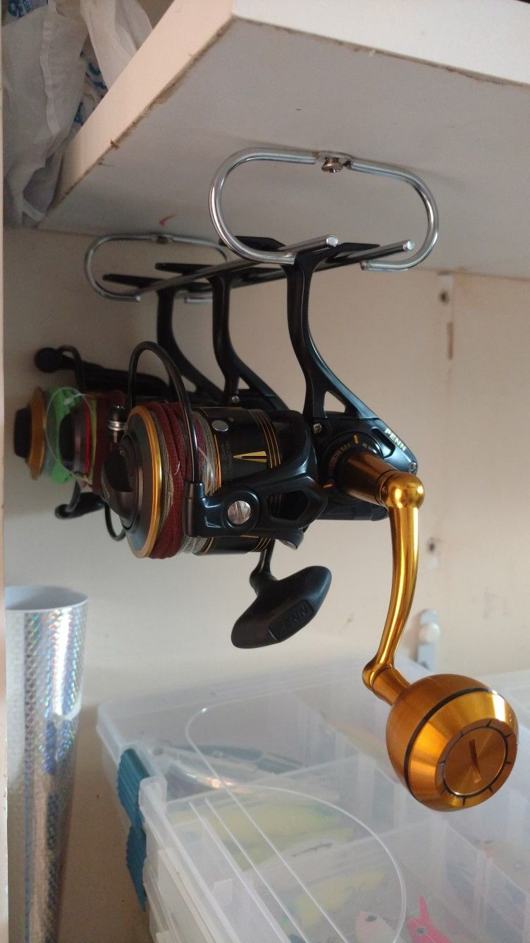 Before: Glass Cup Holder. After: Spinning Reel Storage