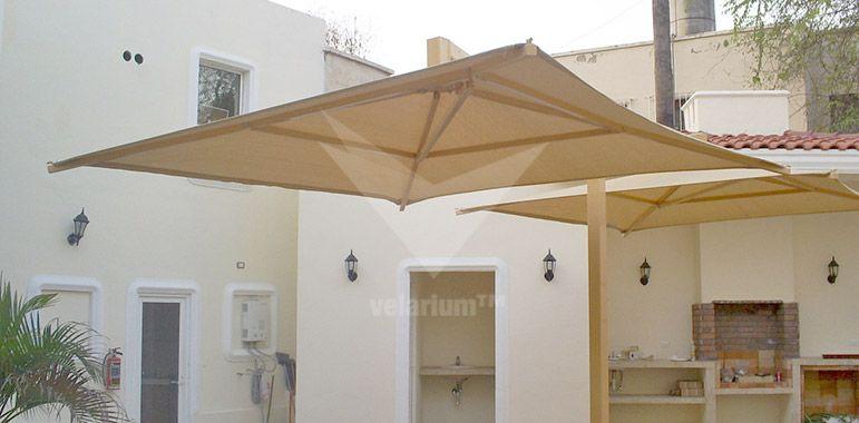Sombrilla velarium shadeports toldos y malla sombra velarias techos tensoestructuras - Toldos para cocheras ...