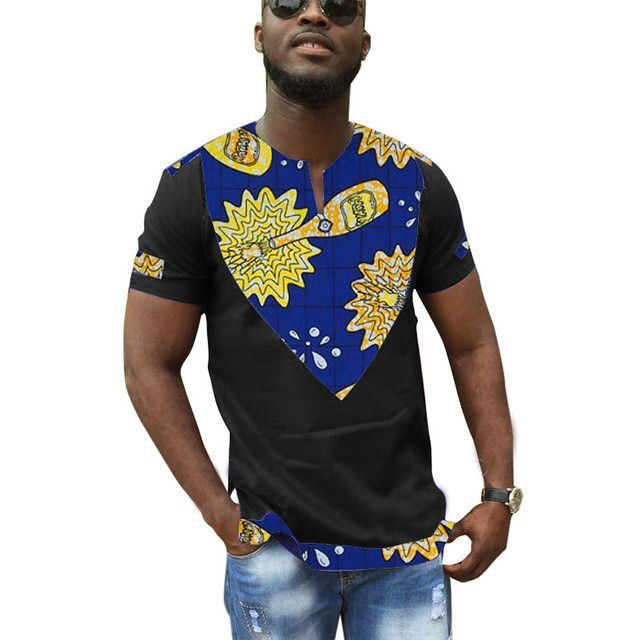 African clothes customized print t shirts men