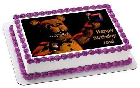 Five Nights At Freddy Birthday Cakes Cake And Printing - Adam levine birthday cake