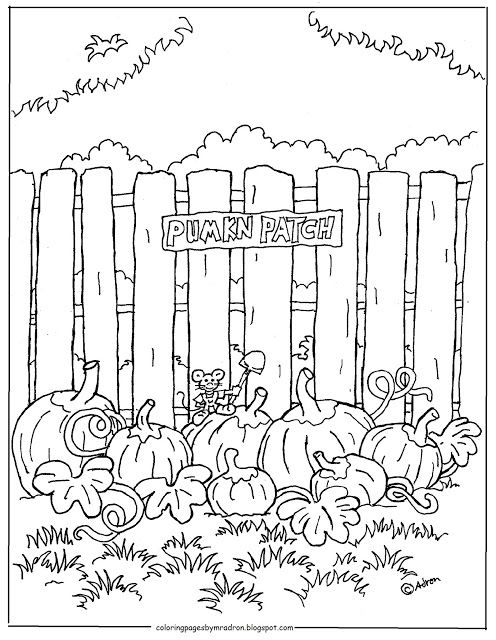 Pumpkin Patch Printable Coloring Page Coloring Pages Pumpkin