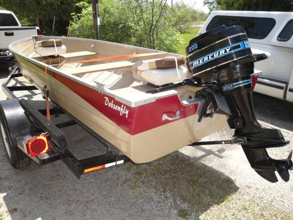 Restored A 1973 14 Mirrocraft Deep Fisherman With A 1975 Mercury Merc 200 20 Hp Outboard Aluminium Boat Aluminum T Fishing Boats Outboard Boat Painting