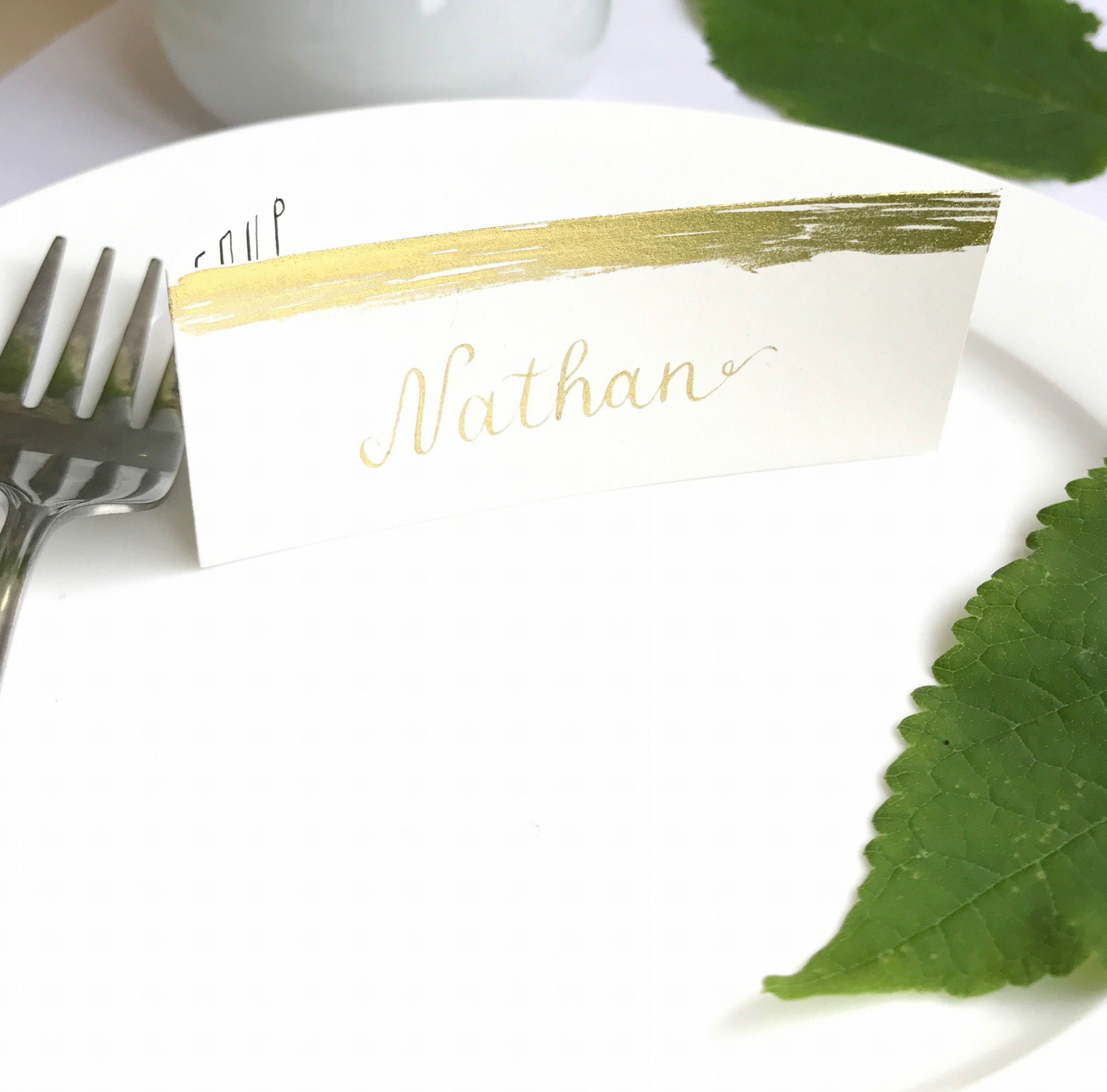 Place Name Card and Menu. Handwritten in dip ink calligraphy pen by ...