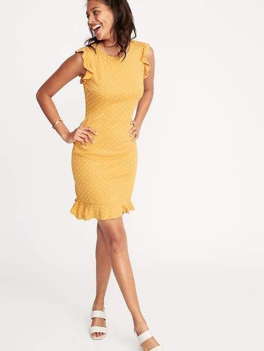 3291d02eb7c76 Old Navy Women s Ruffled Ponte-Knit Sheath Dress Tamarind Size S in ...