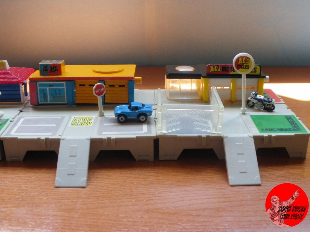 Micro Machines Travel City These Playsets Included A Petrol Station Car Garage And More They Could Be Interlocked Togeth Toy Garage Toy Pedal Cars Toy Plane