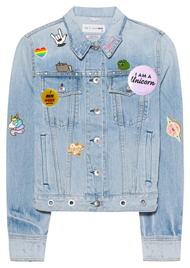 """""""Pins on a jacket"""" by fran-the-donut ❤ liked on Polyvore featuring rag & bone, Bling Jewelry, PèPè and Dsquared2"""