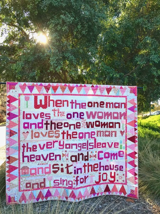 Sing for Joy • Quilt Finish | OccasionalPiece--Quilt! #howtosing