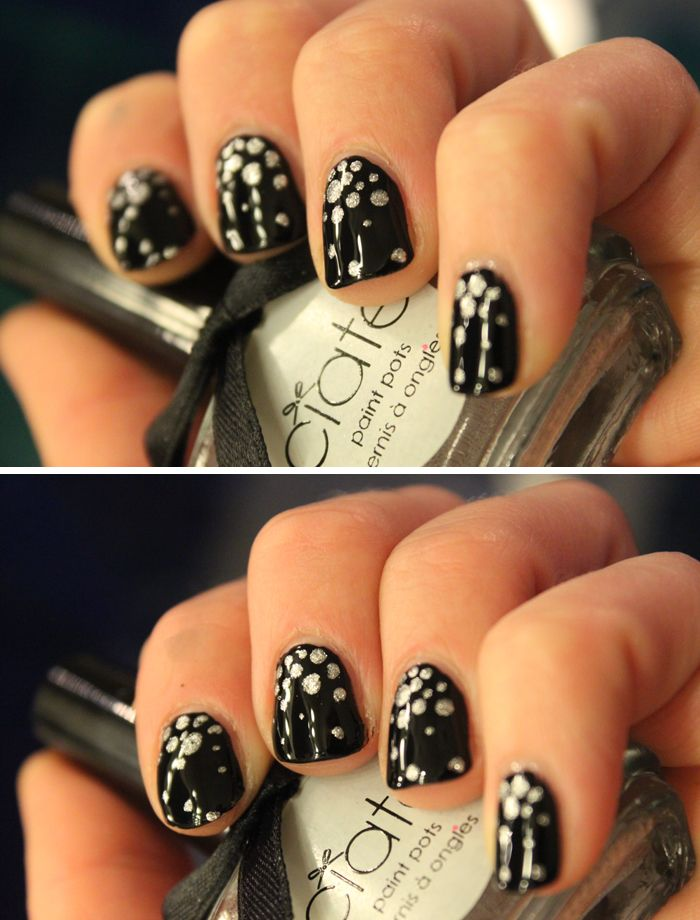 Dotted with silver