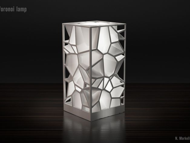 Voronoi Lamp By Totatot 3d Printing Art 3dprinting Design Lamp Design