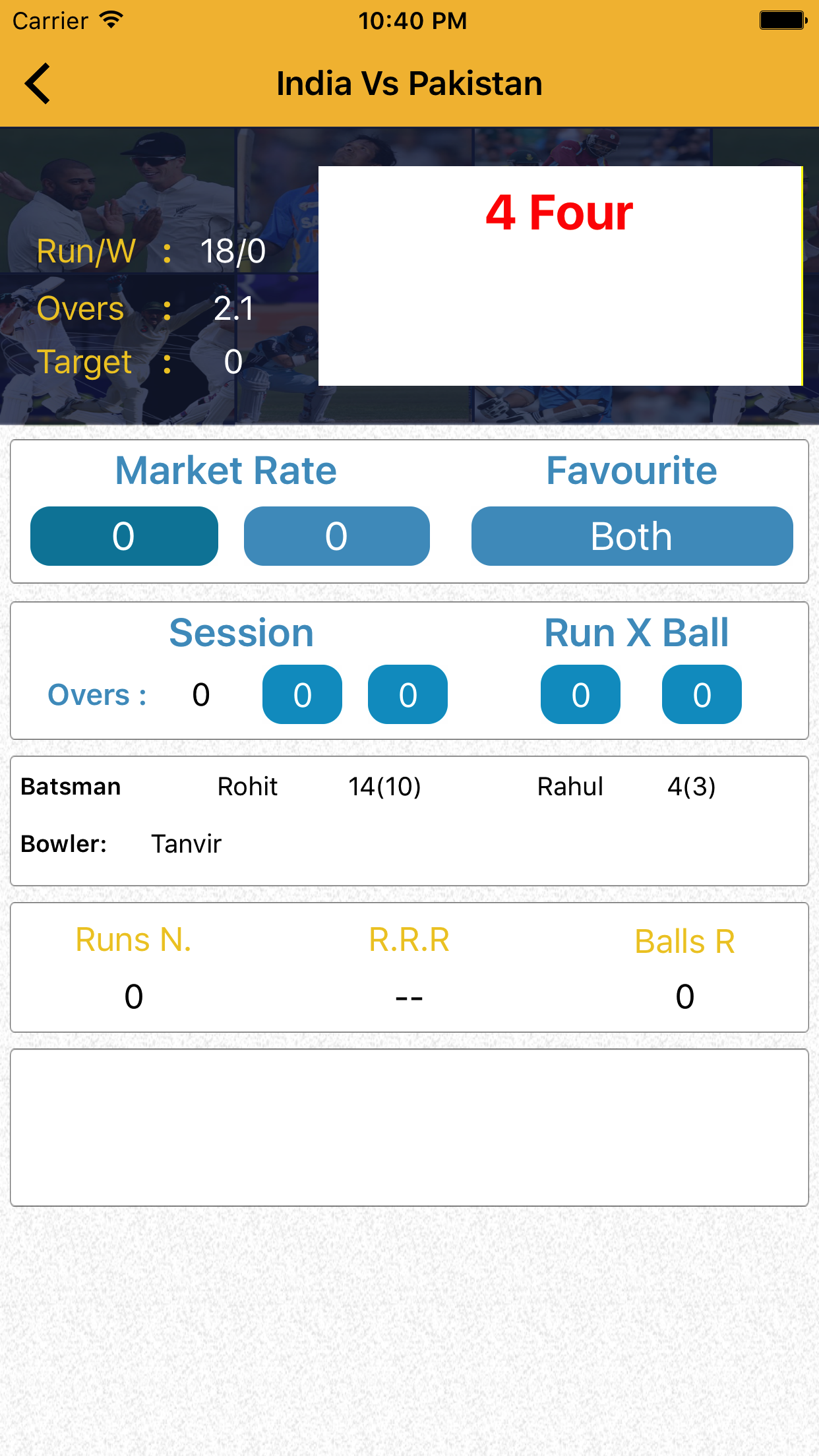 Cricket Fast Live Line mobile apps shows Ball by ball all