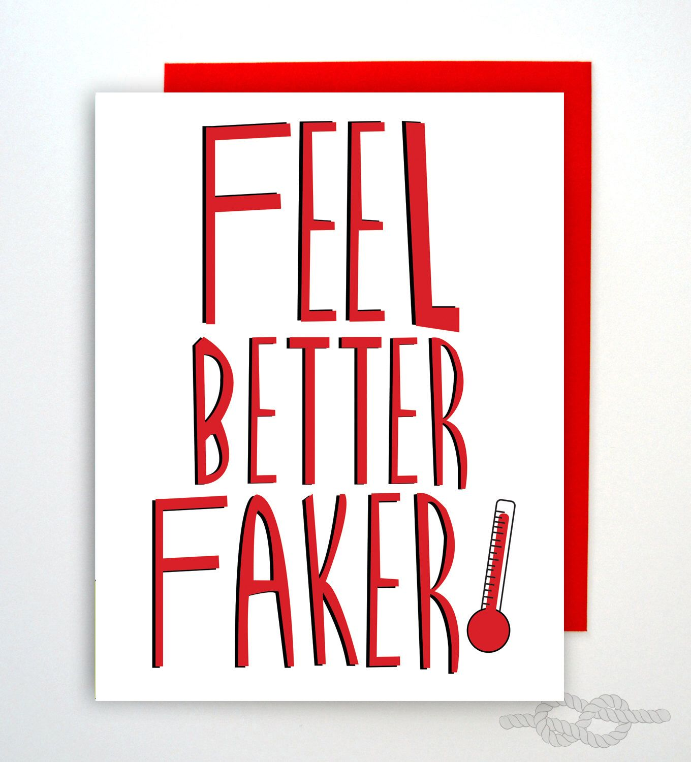 Funny Feel Better Card Funny Greeting Card Feel Better Card