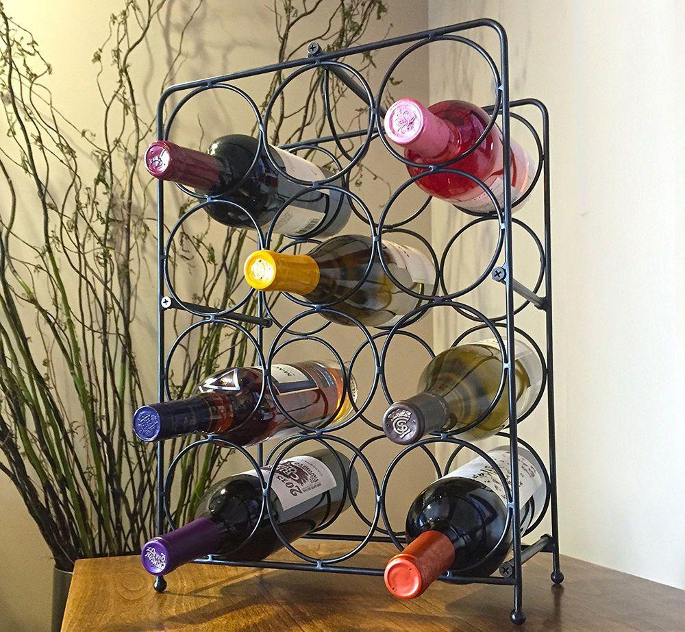 Wine Rack Bottle Holder Storage Metal Bar Kitchen Display Cabinet