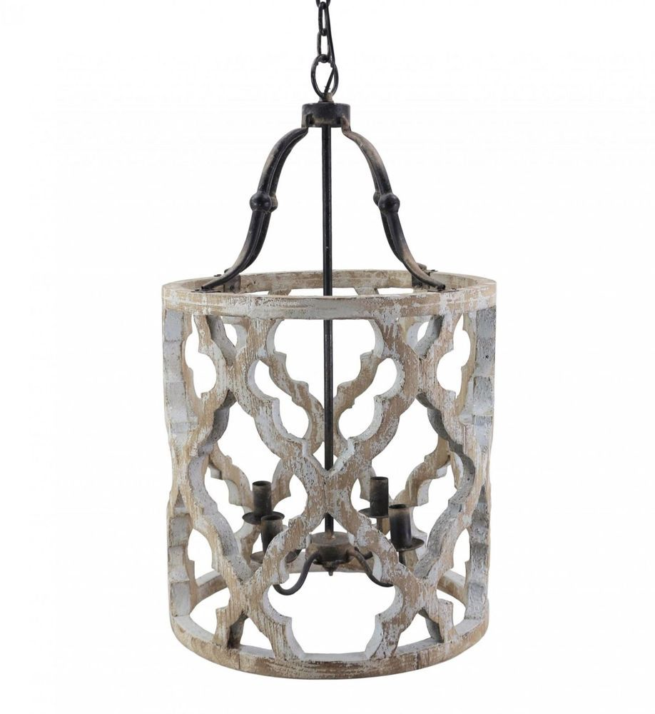Stunning rustic french boho anthropologie style carved drum wood stunning rustic french boho anthropologie style carved drum wood chandelier aloadofball Images
