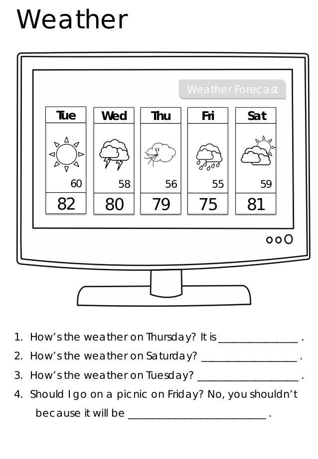 Kids Weather Report Template (2 Kinder aktivitäten