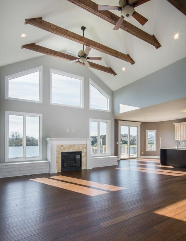 Featuring Luxury Ranch Style Homes For Sale Sublime Homes Newest House Plan Boasts The Latest In Hom New House Plans House Design Vaulted Ceiling Living Room