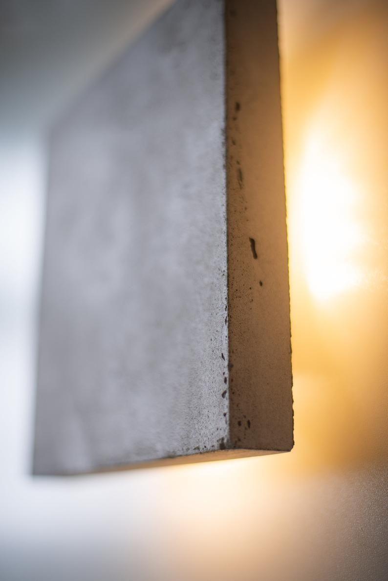 Betonlampe Sc 329 Handgefertigt Konkrete Dimmer Lampe Steckleuchte In Wandleuchte Wandlampe Stecklampe Einstecken Wandleuchte Minimalistischen Nachtlich In 2020 Plug In Wall Lamp Wall Lamp Concrete Lamp