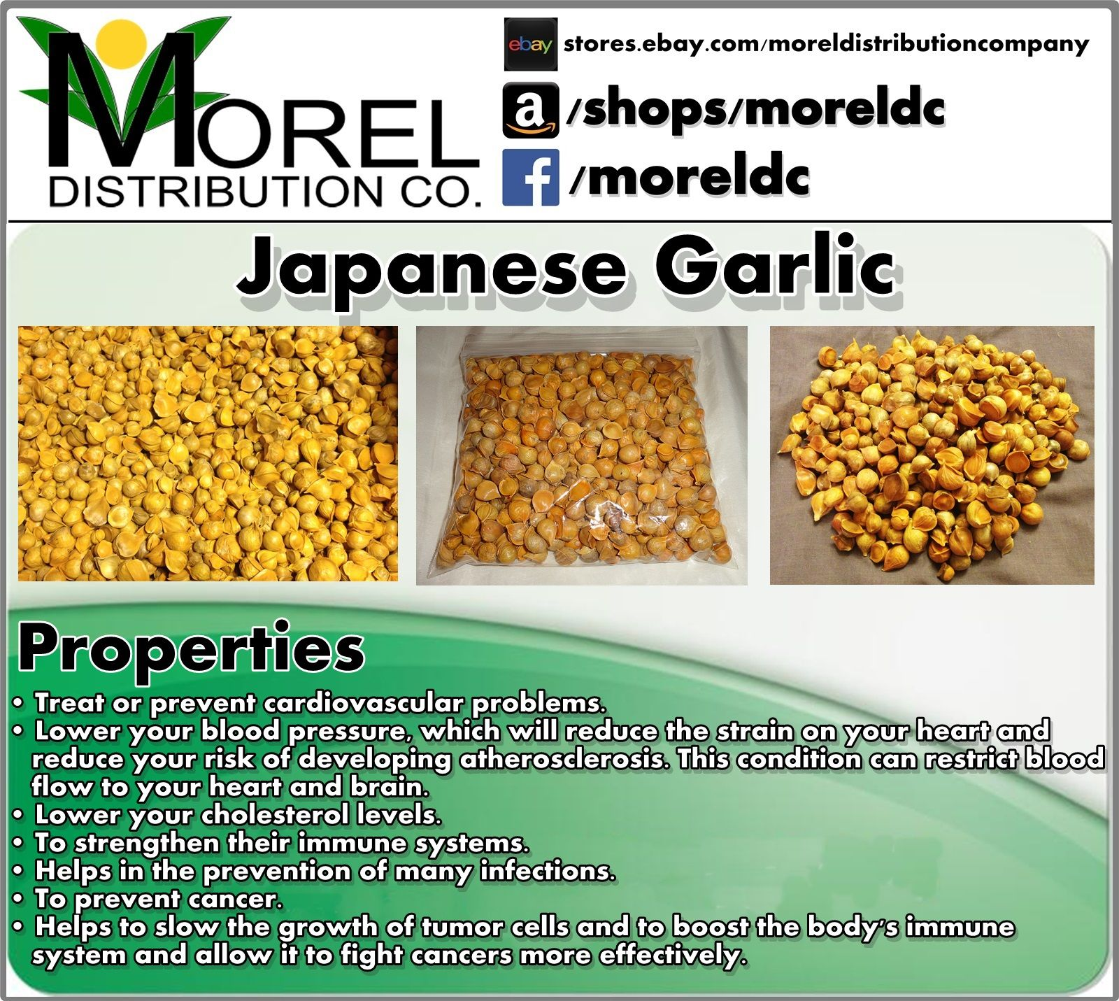 100 Natural Japanese Garlic Or Ajo Japones Lots Of Properties For
