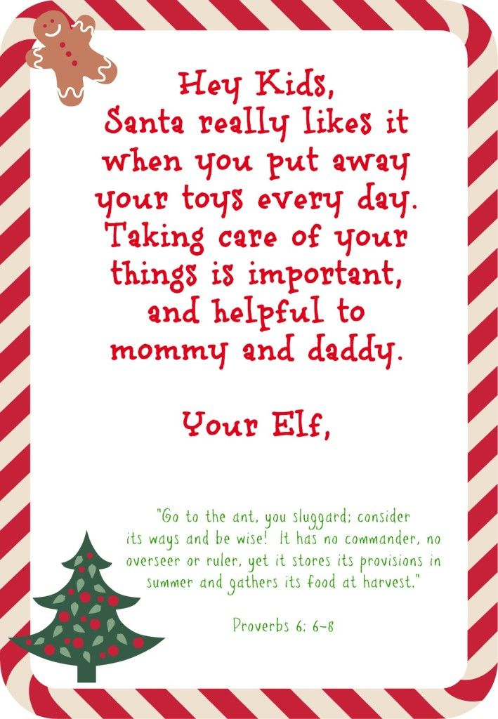 Playful image with letters from elf on the shelf printable