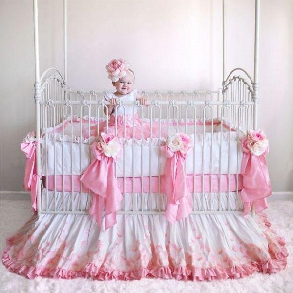 pink crib bedding pink crib bedding   bedroom design ideas   Pinterest