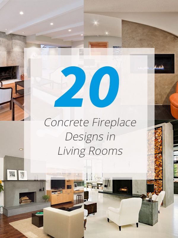 20 Concrete Fireplace Designs Highlighted in WellDesigned Living
