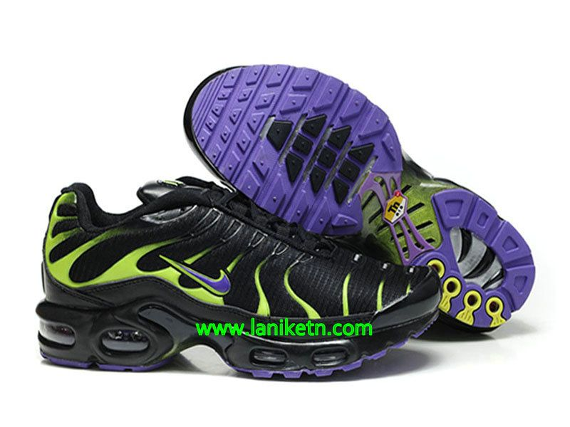 save off c2107 52cb2 Nike Air Max Tn Requie tuned 1 Chaussure De Basket-ball Pour homme Noir-Vert -pourpre