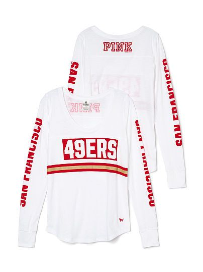 79413655f01 San Francisco 49ers Long Sleeve Football Tee PINK