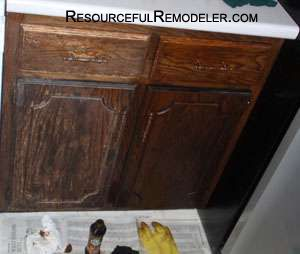 Clean Kitchen Cabinets Wood before on the left, after on the right | home | pinterest