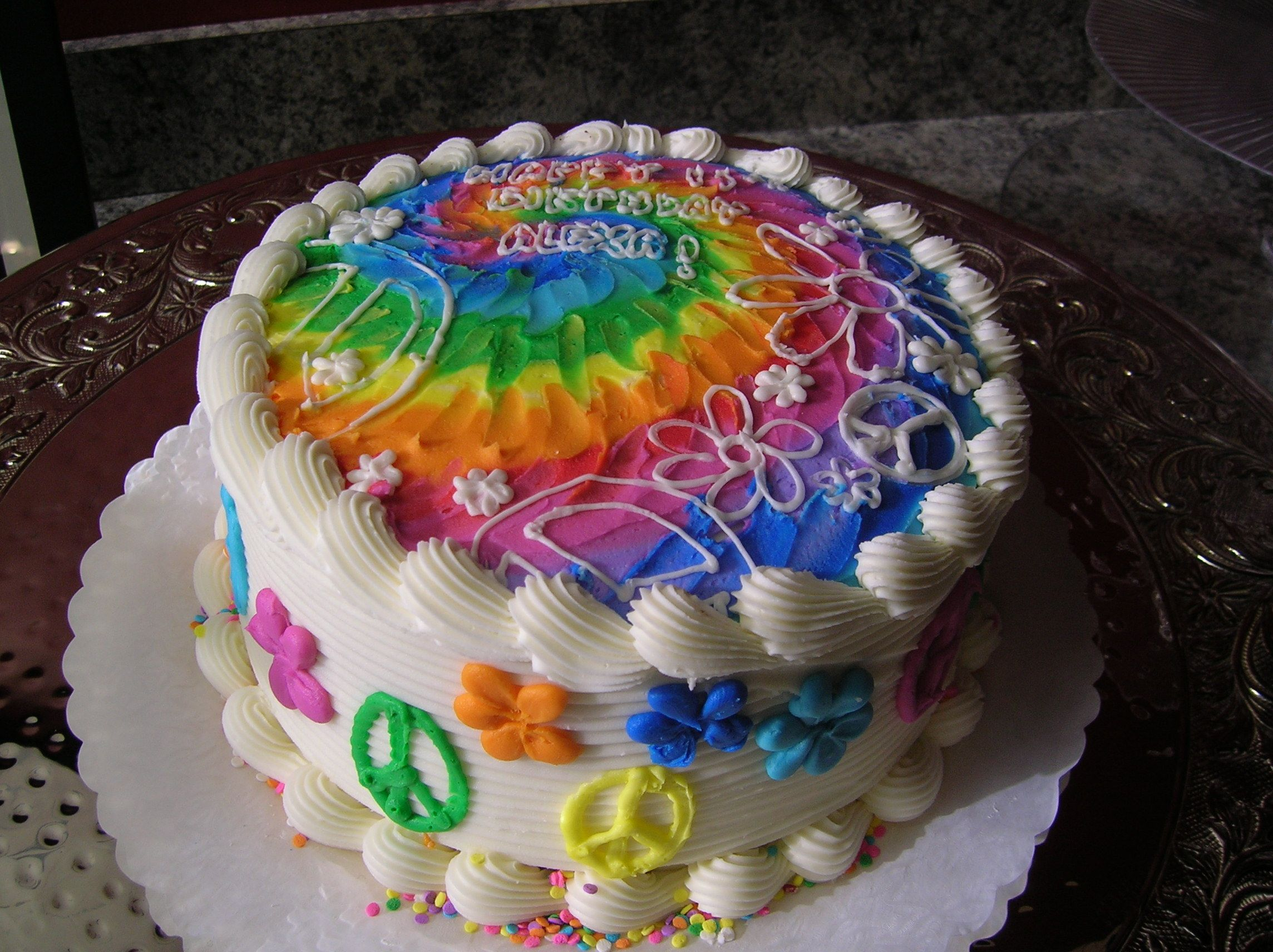Tie Dye Cake Pinteres - Colorful diy kids cakes