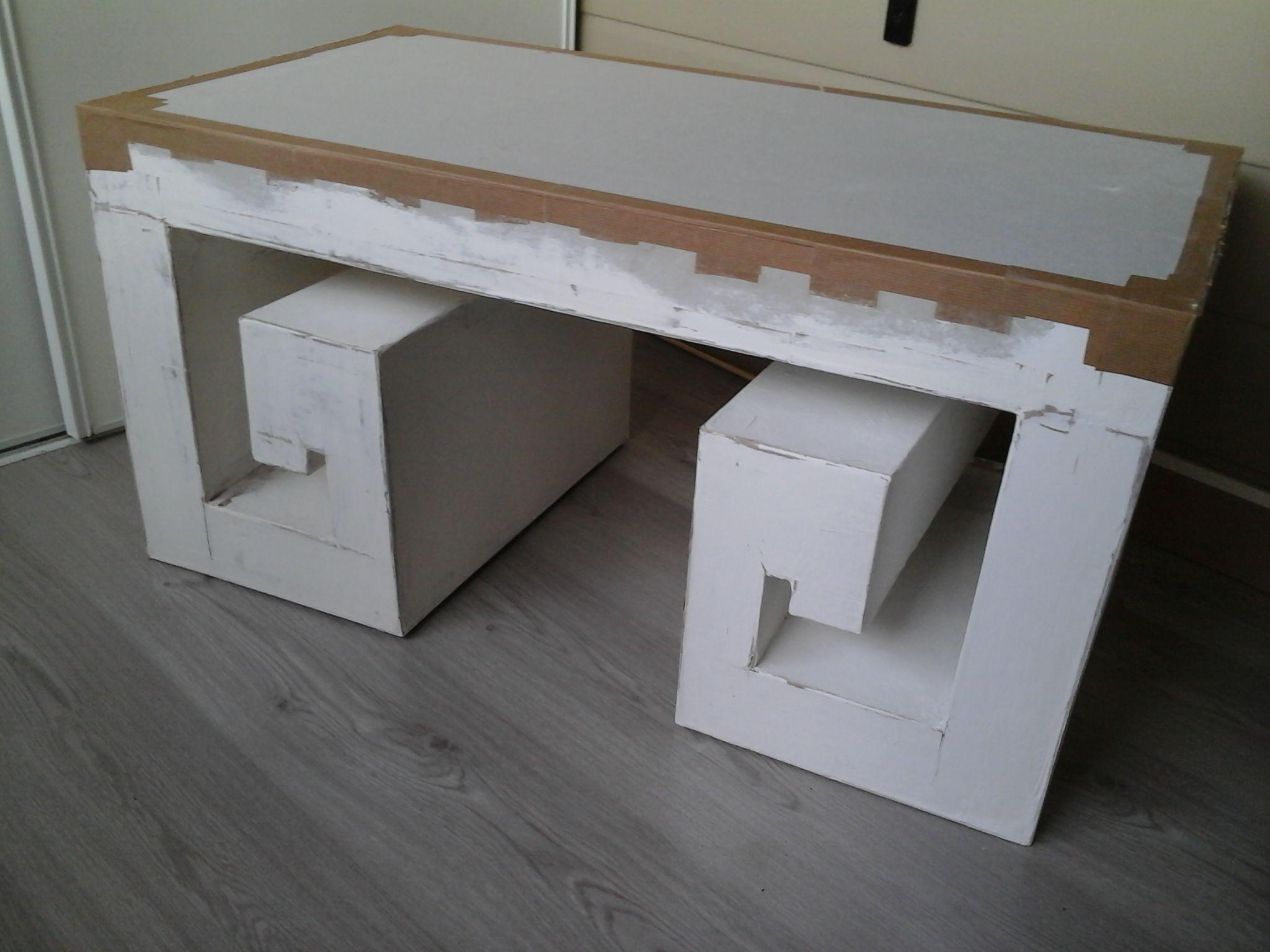 Table En Finition Table De Salon Zen Cardboard Crafts