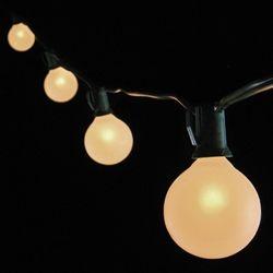 Globe String Lights G50 Bulbs 100 Ft Green Wire Outdoor Pearl White Globe String Lights Globe String Lights Wedding White Globe String Lights